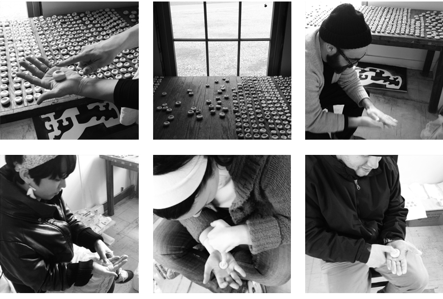 OFRENDA RITUAL (OFFERING RITUAL)  2013. Participatory performance. Ritualistic intervention.  View of Ofrenda Ritual at TheWassaic Project, Wassaic, NY – Wassaic Artists Residency program, March 2013