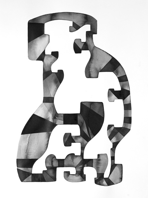 INTUIGRAMS DRAWINGS.  2013. India ink and Sumi ink on Arches paper. 22 × 30 in