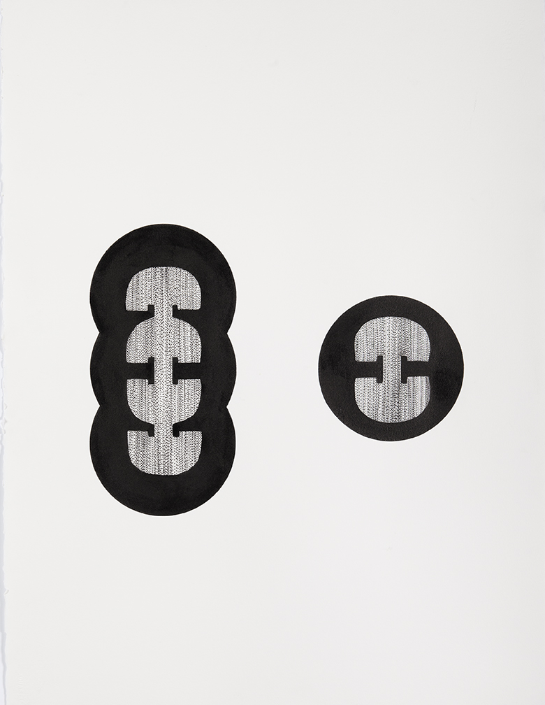 INTUIGRAMS (Seed Drawing).  2013.India ink andSumi ink on Arches paper. 10 × 4 in