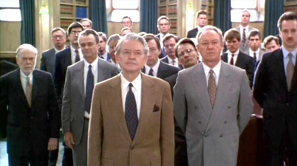 Literal parade of old white dudes helpin' Tom Cruise study for the bar exam