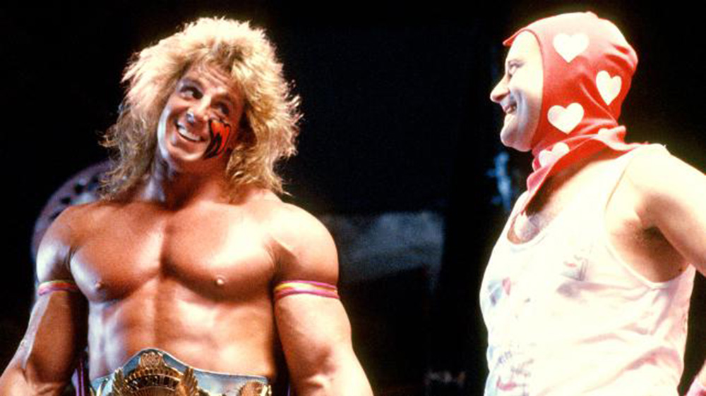 """Against All Odds"": Ultimate Warrior (L) vs. Phil Collins (R), circa 1990"