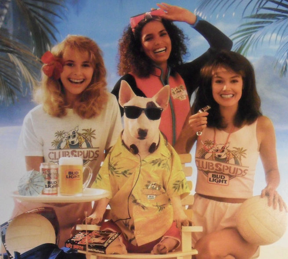 """Exhibit A: The late Spuds MacKenzie, posterchild of dogs who suffered the 1980s' """"dog in sunglasses"""" trend."""