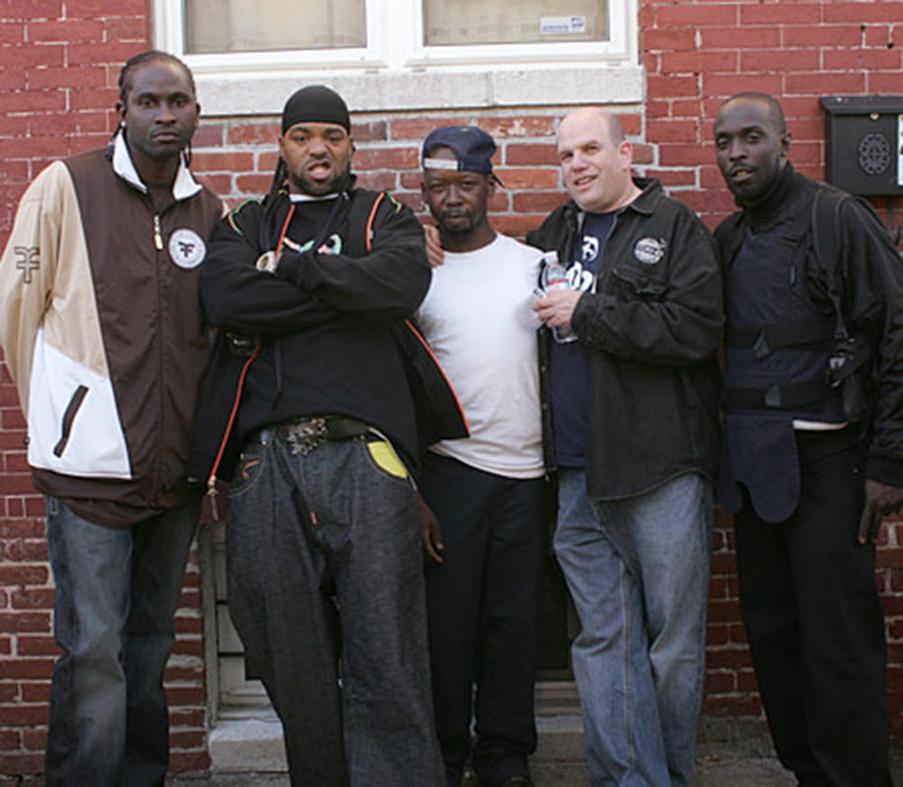 "David Simon and the cast of HBO's ""The Wire"""