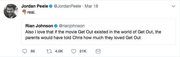 Taken From Jordan Peele's Twitter Account
