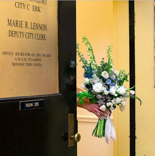 Bouquet for city hall bride.  Erin Nicole Brown Photography