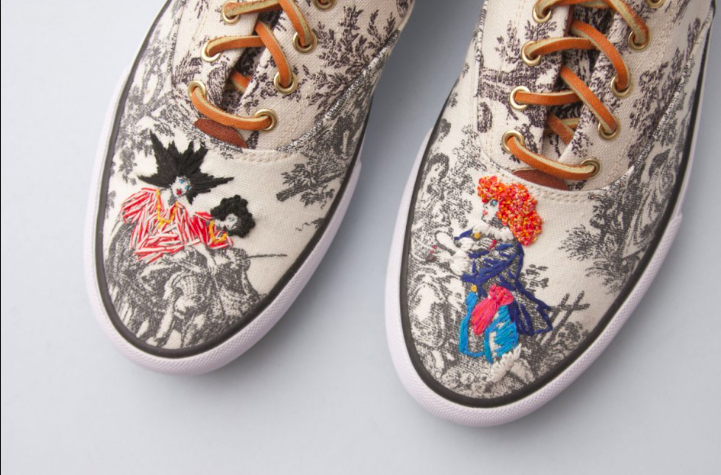 Artist Richard Saja collaboration with Keds for Opening Ceremony.