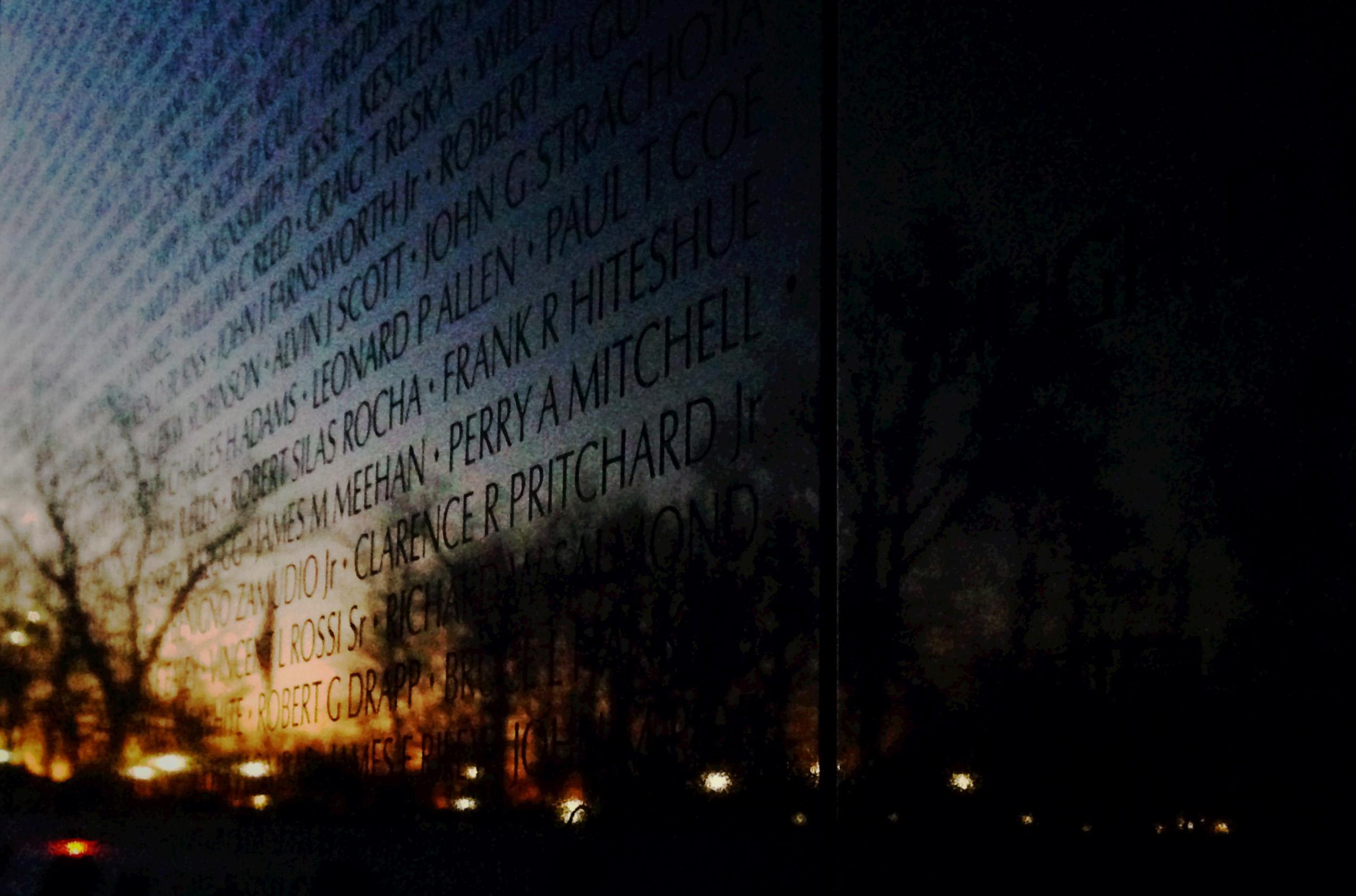 The Vietnam Veterans Memorial.