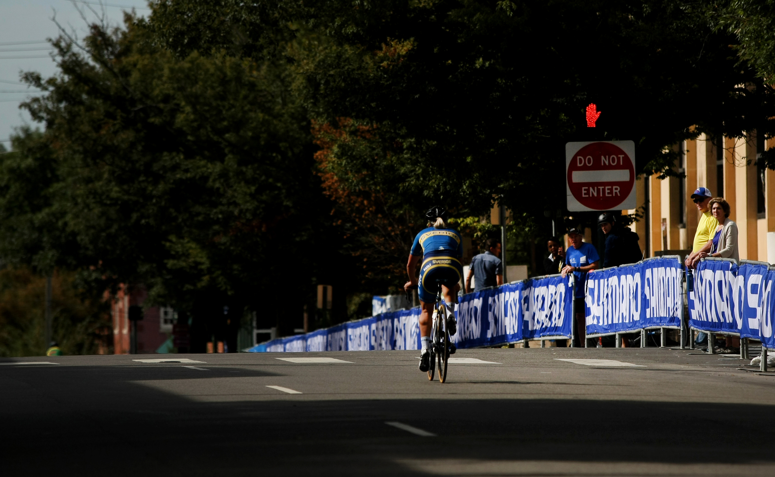 Tomas Båbek, of the Czech Republic,rides during the Road Circuit Training portion of the UCI Road World Championships cycling races in Richmond, Va., Thursday, Sept. 24, 2015. (AP Photo/Jason Hirschfeld)