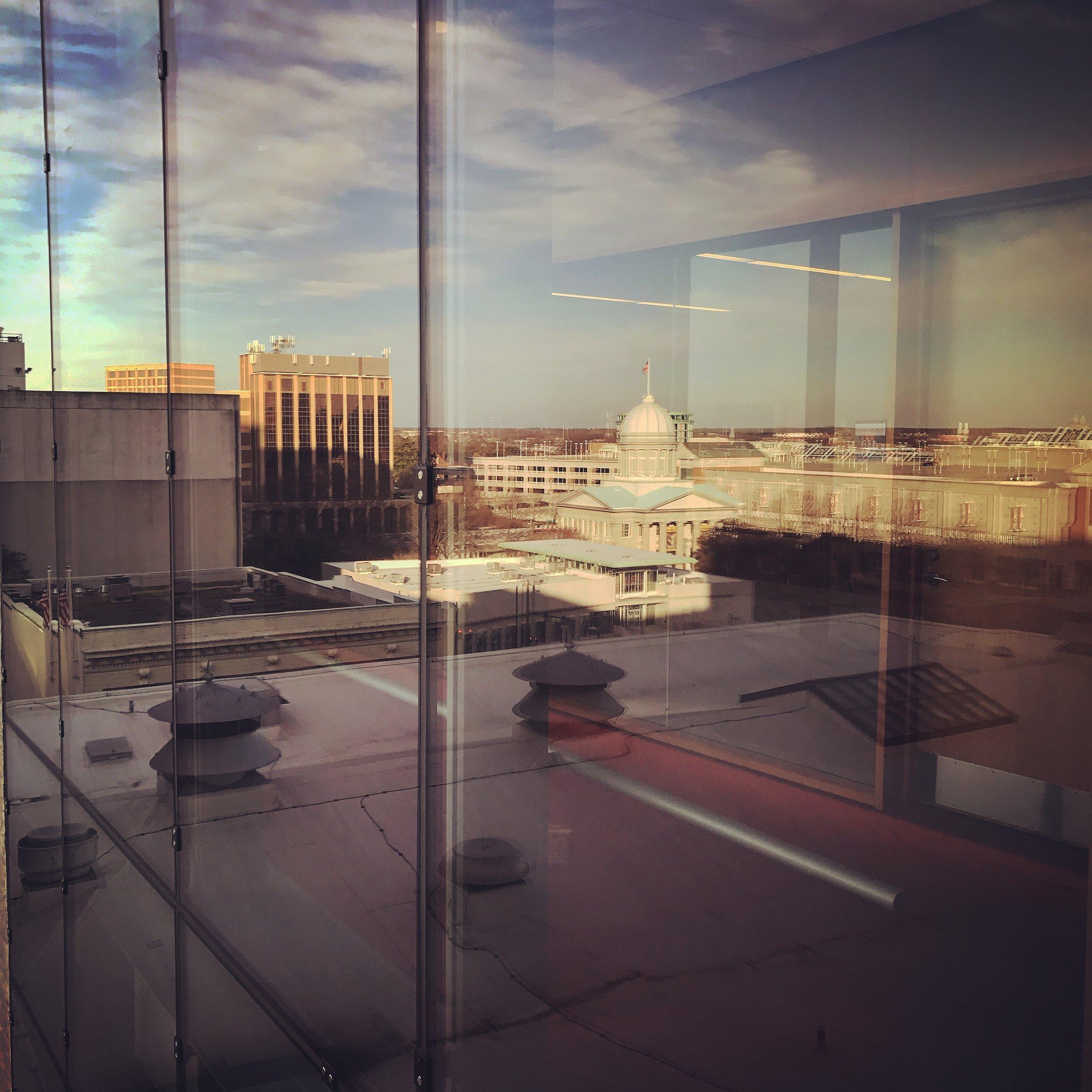 MacArthur Memorial reflected.