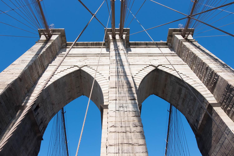 Brooklyn Bridge Blue Sky