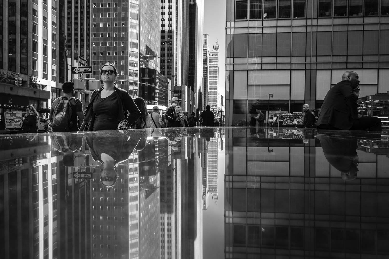 Reflection on Sixth Avenue