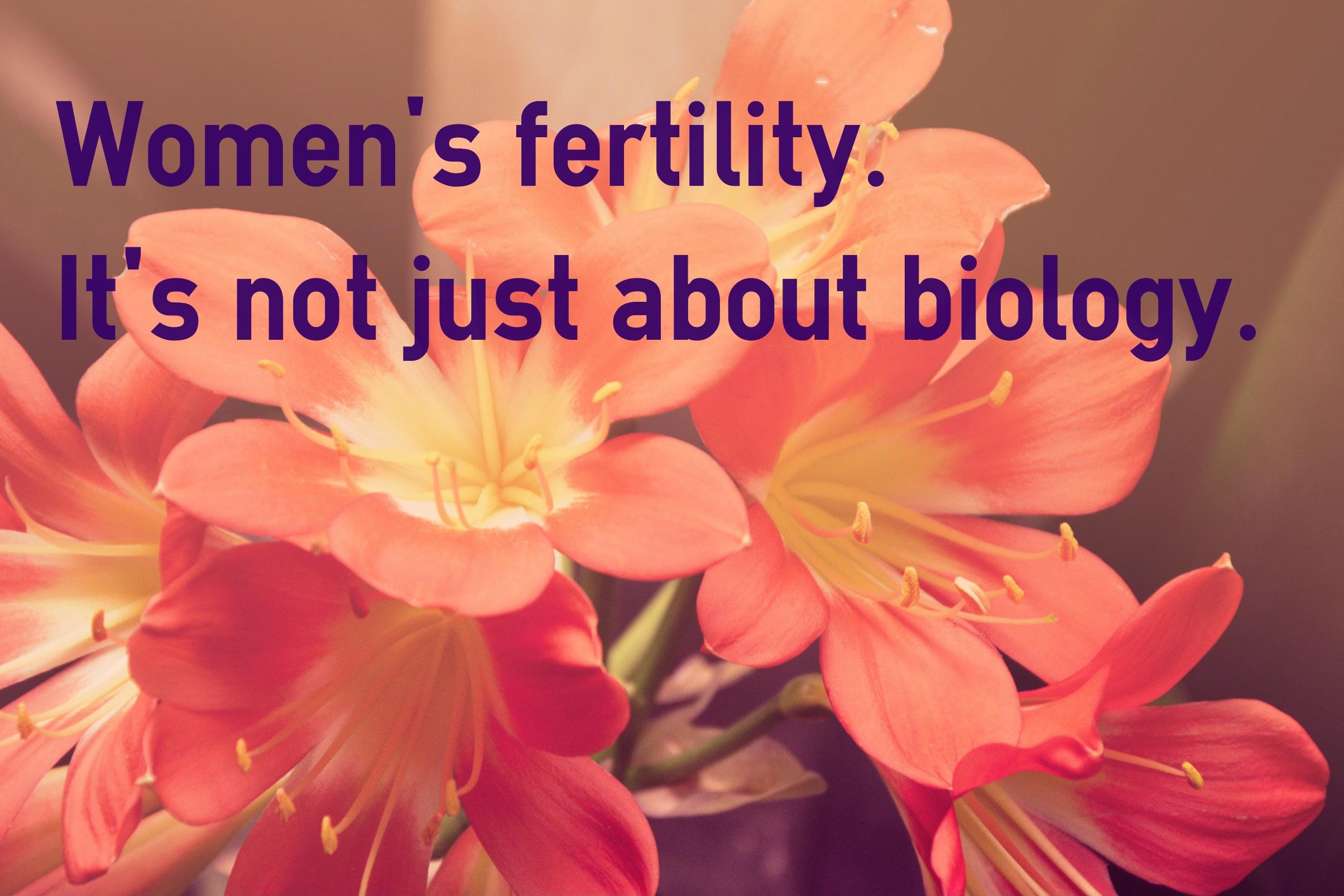 women's fertility and stress