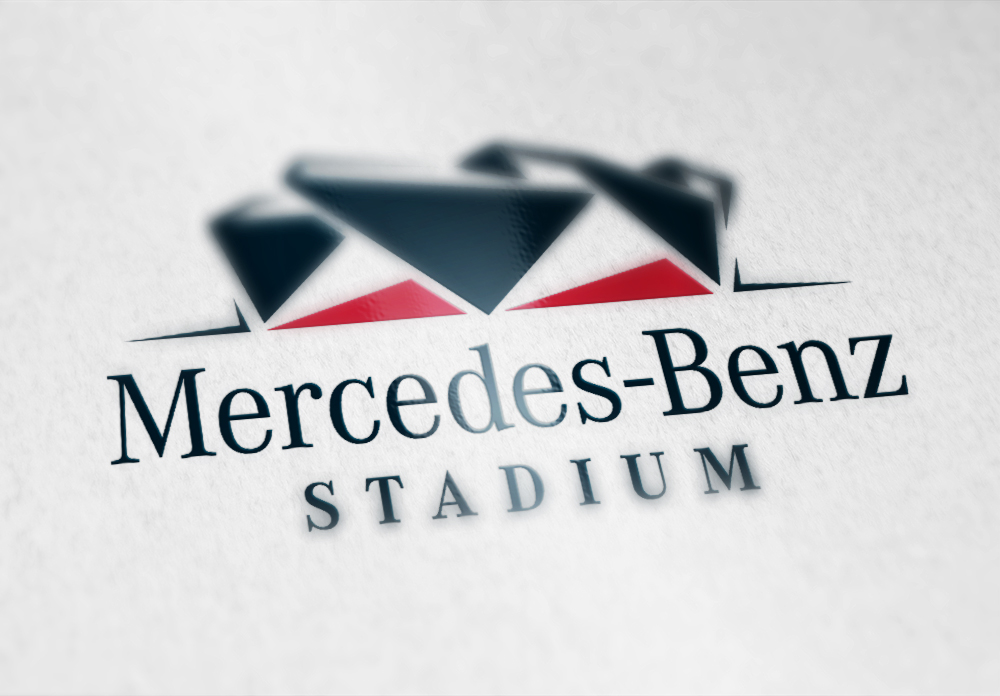 Mercedes-Benz Stadium Logo - Develop a modern and easily recognizable identity system that showcased the buildings unique architecture while maintaining the premium design aesthetic that is familiar to Mercedes-Benz