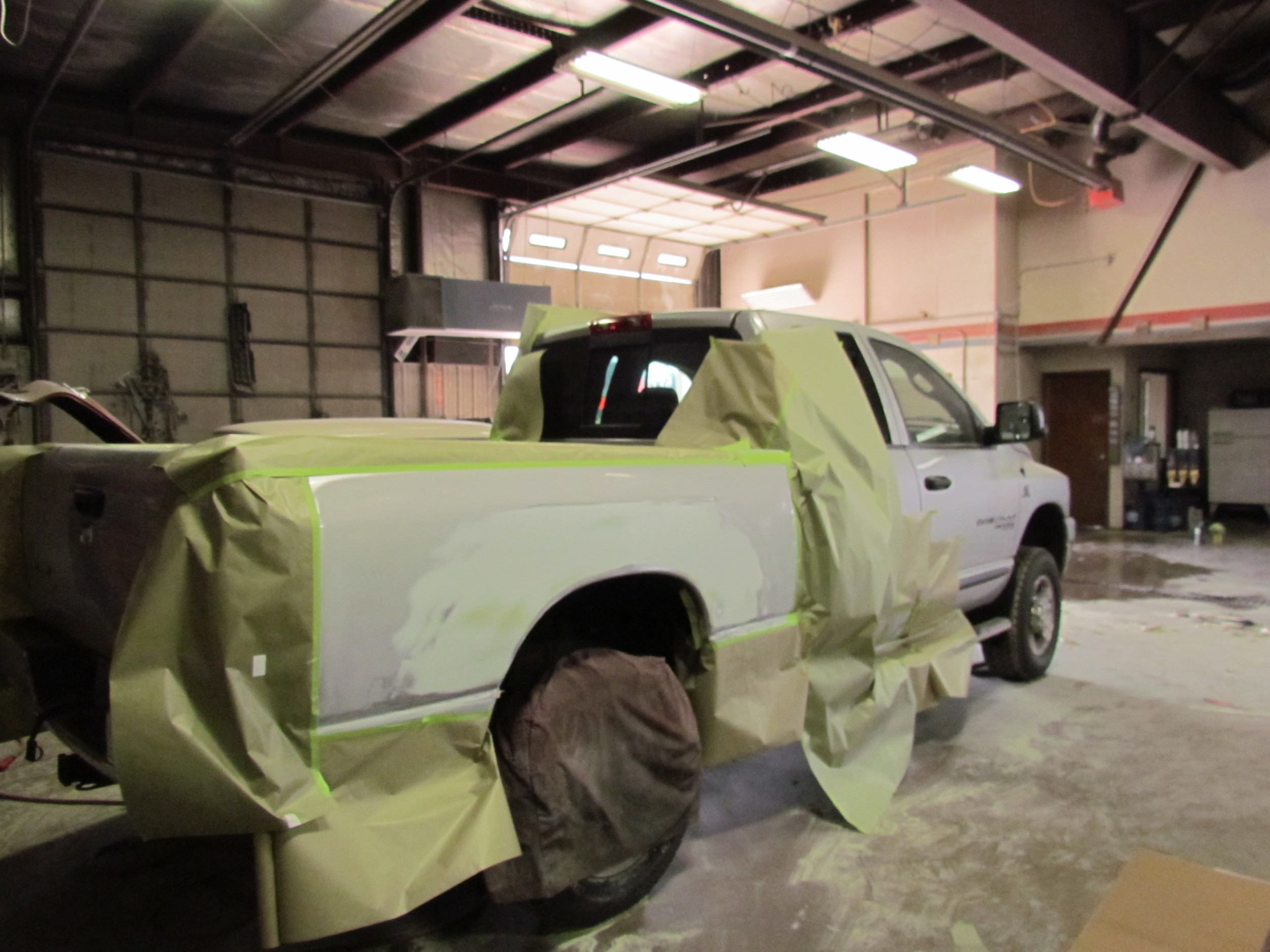truck paint and frame work