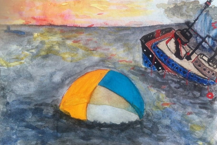 the slowly sinking ship and floating life tent dream