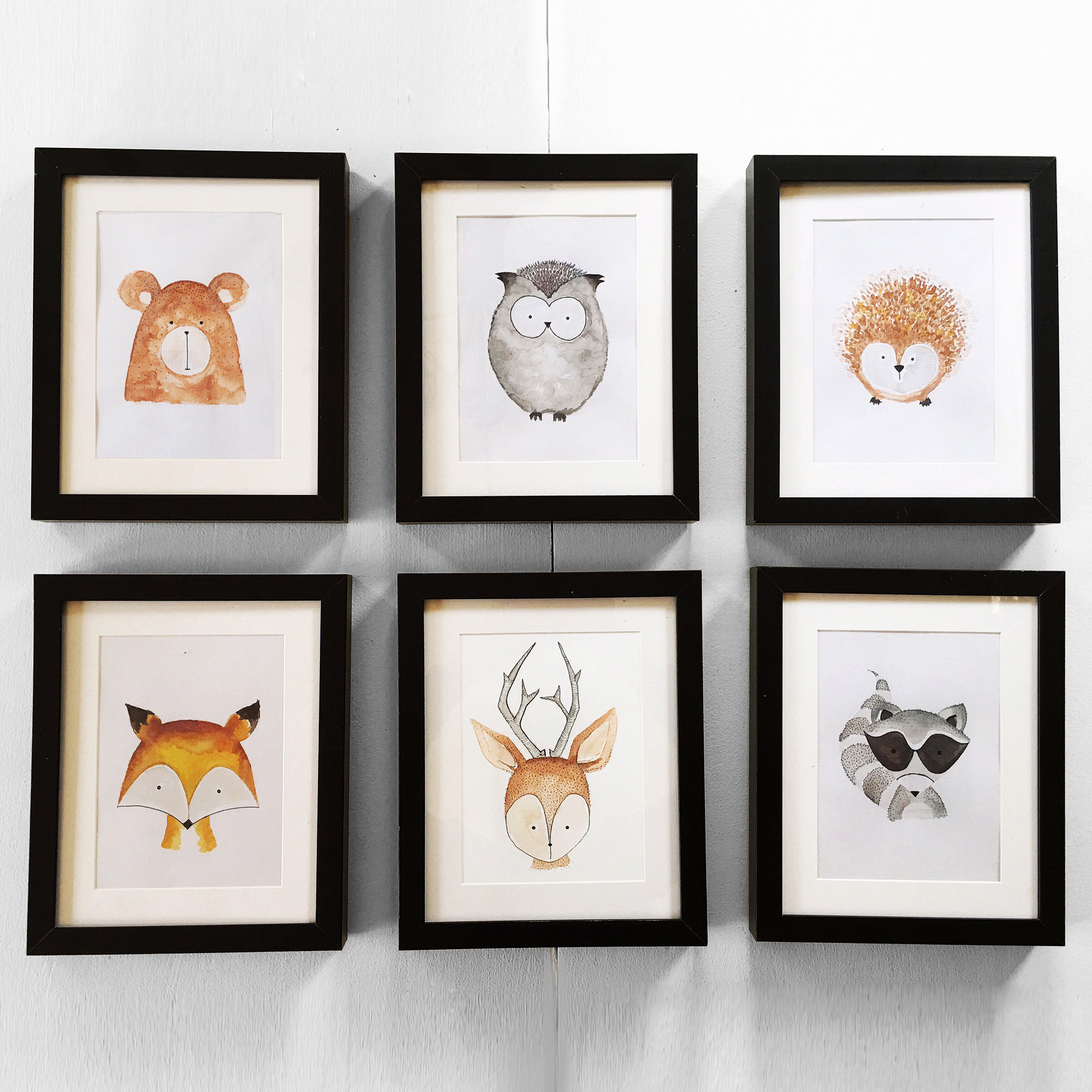Woodland Watercolor Collection $175
