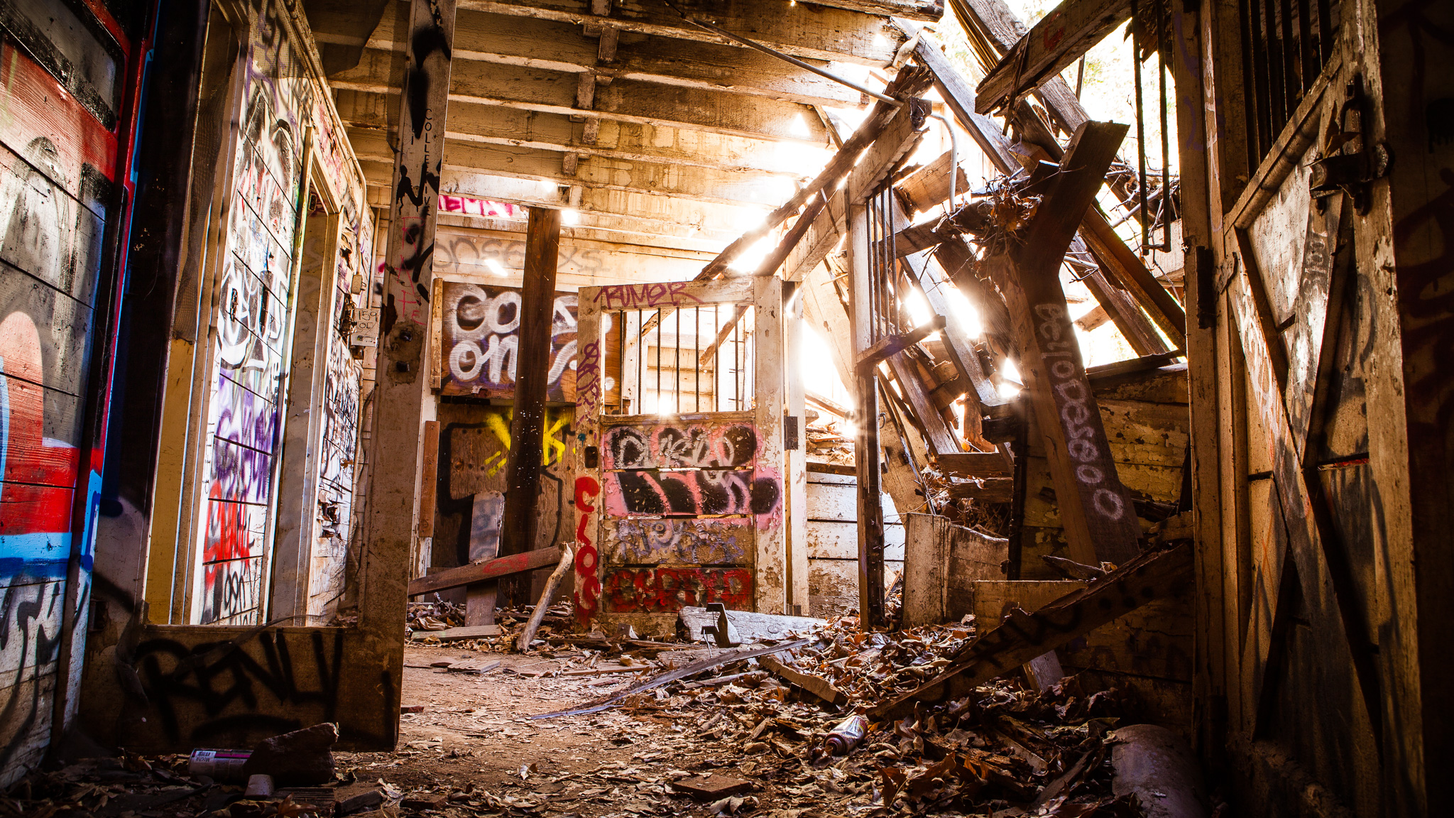 Abandoned Graffitied Barn House In Rustic Canyon, Los Angeles