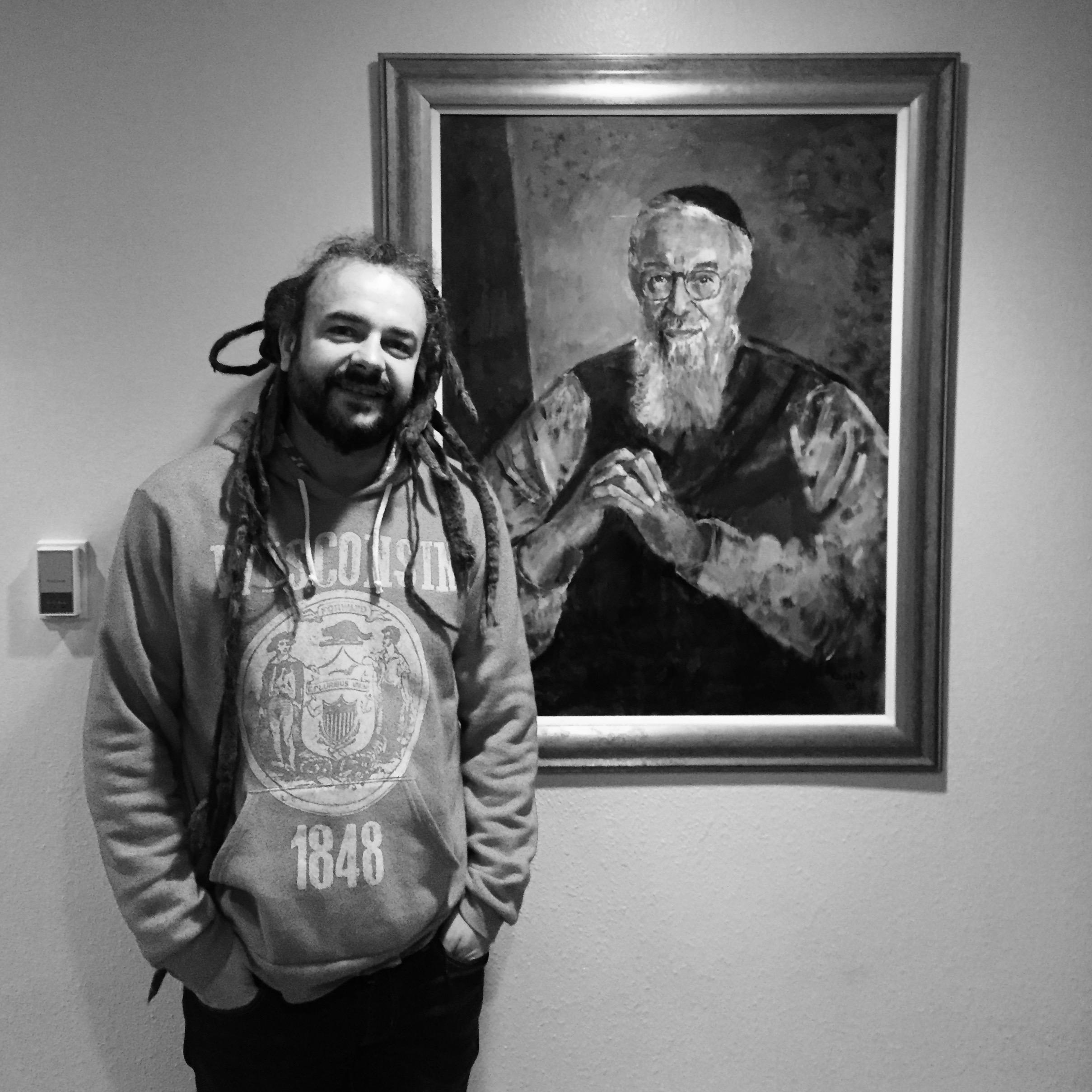 Adam Bucko with Reb Zalman Schachter-Shalomi. Photo by Netanel Miles-Yépez.