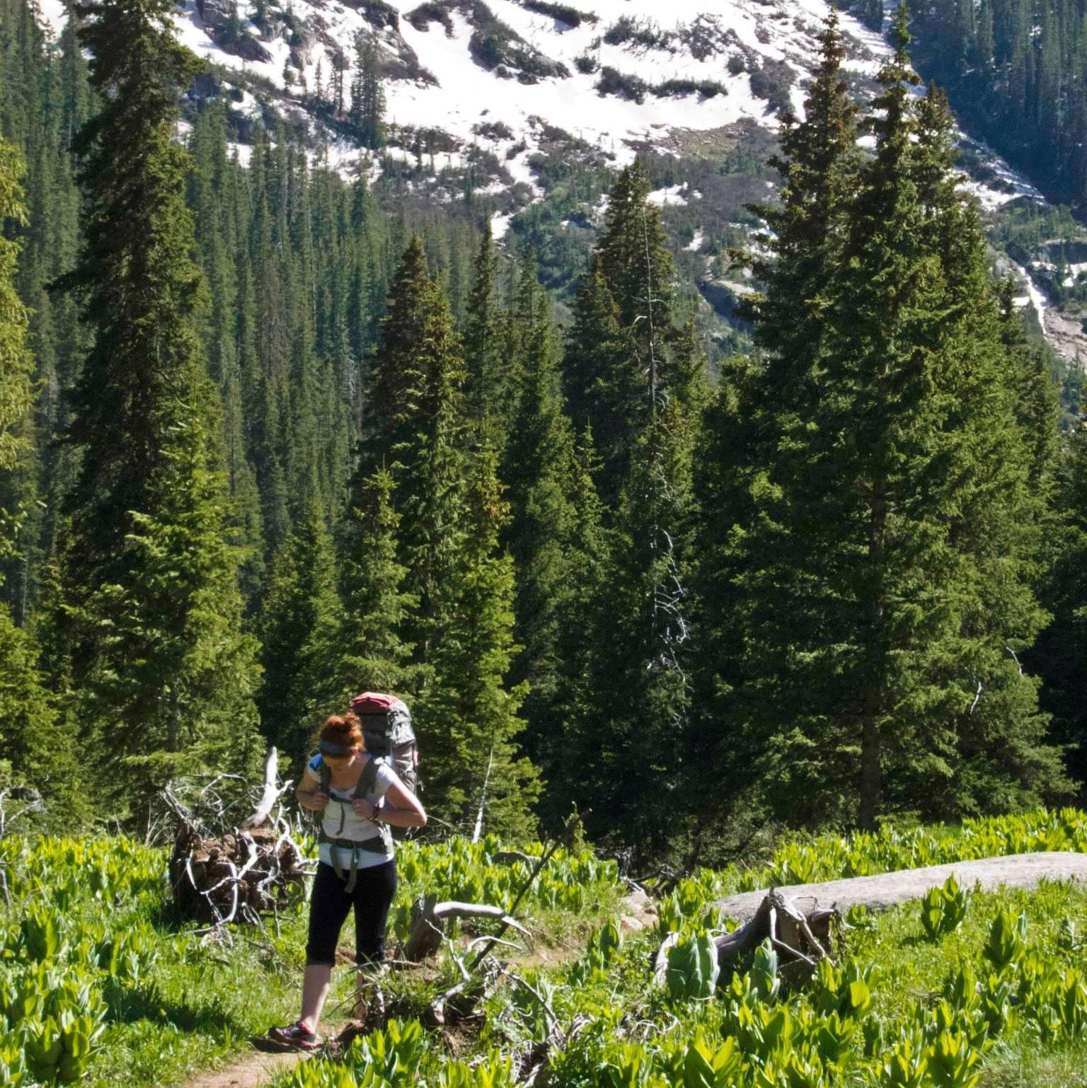 Samantha Krezinski backpacking in Durango, CO. Photo by Dan Rothman.