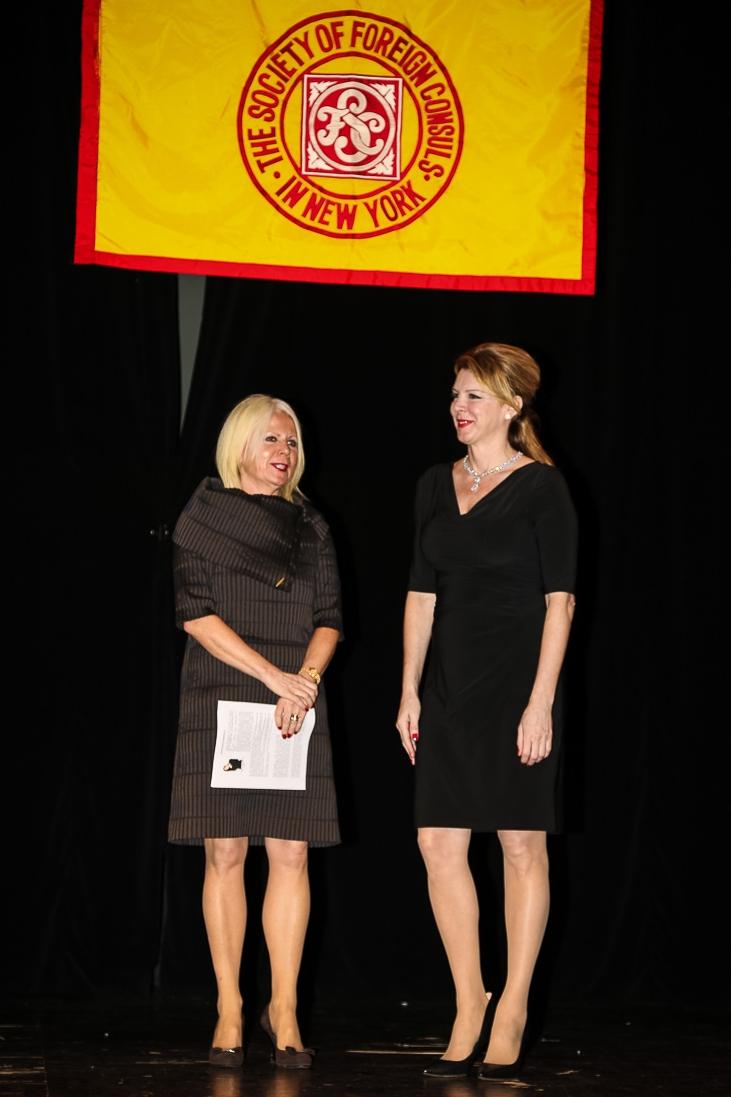 Alexandra Borowczak and Jana Trnovcova, Consulate General of Slovakia in New York