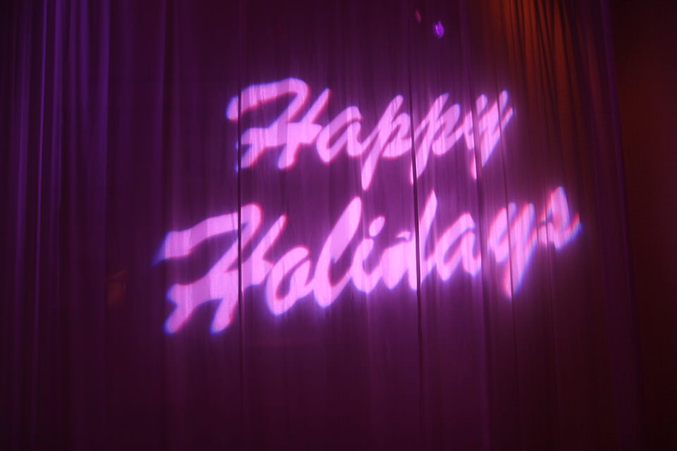 Holiday Gobo with Wall Wash