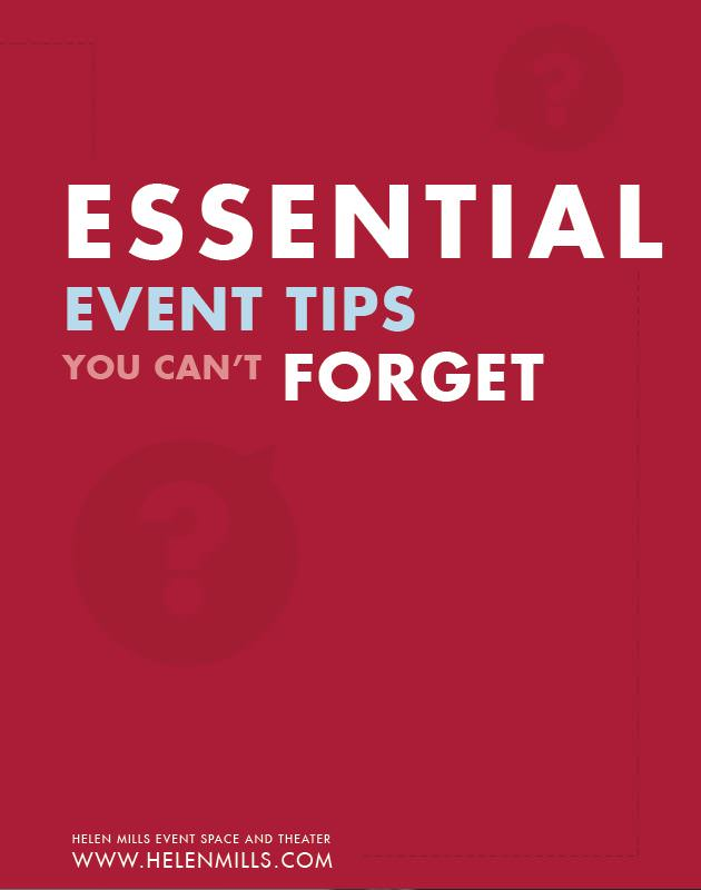Essential Event Tips You Can't Forget