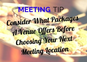 Meeting Tip - Picking a Meeting Package