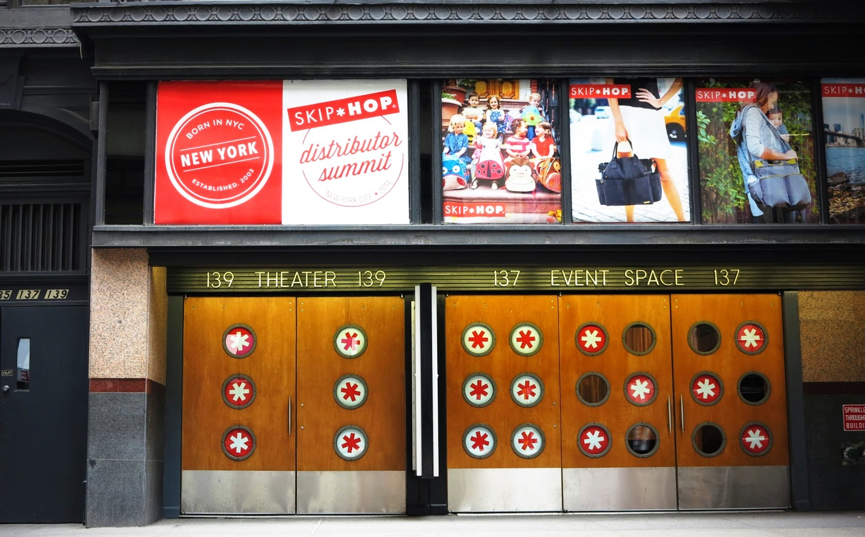 Entrance signage examples