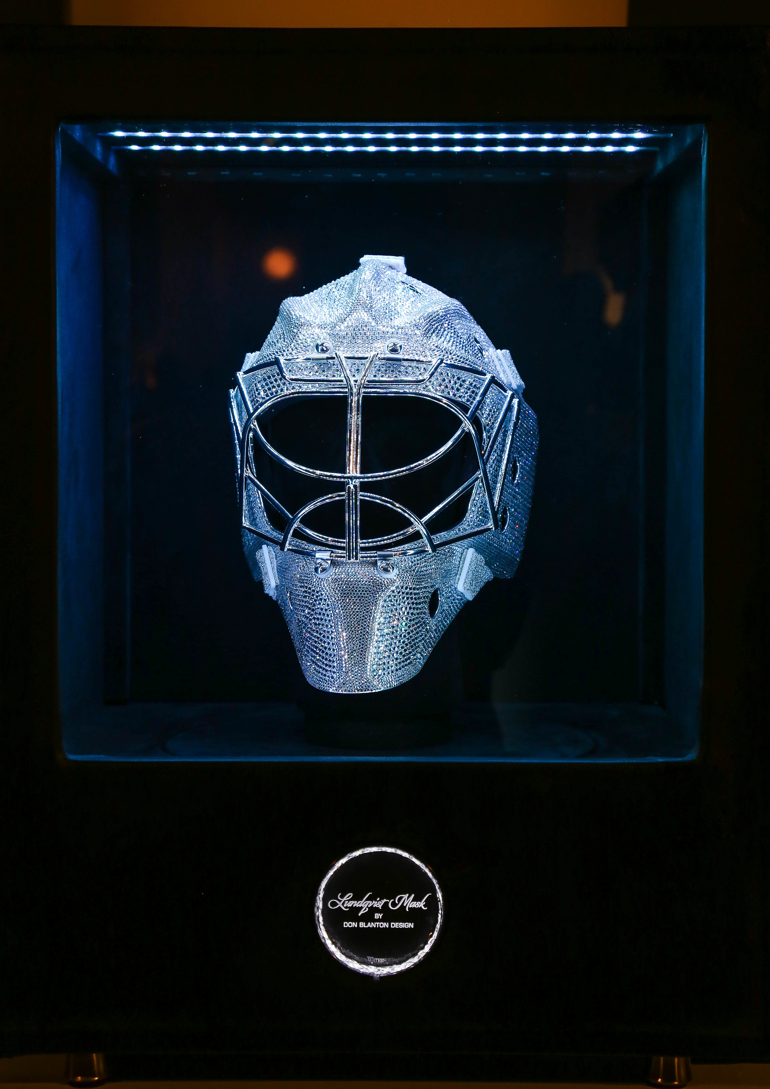 Diamond encrusted mask in case