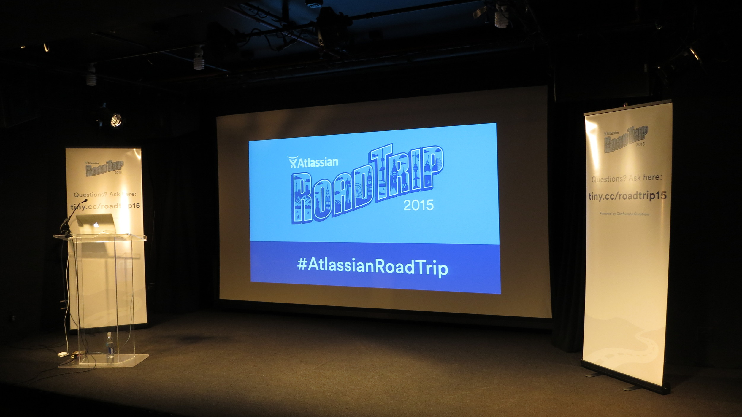 Atlassian 2015 Road Trip Presentation set-up