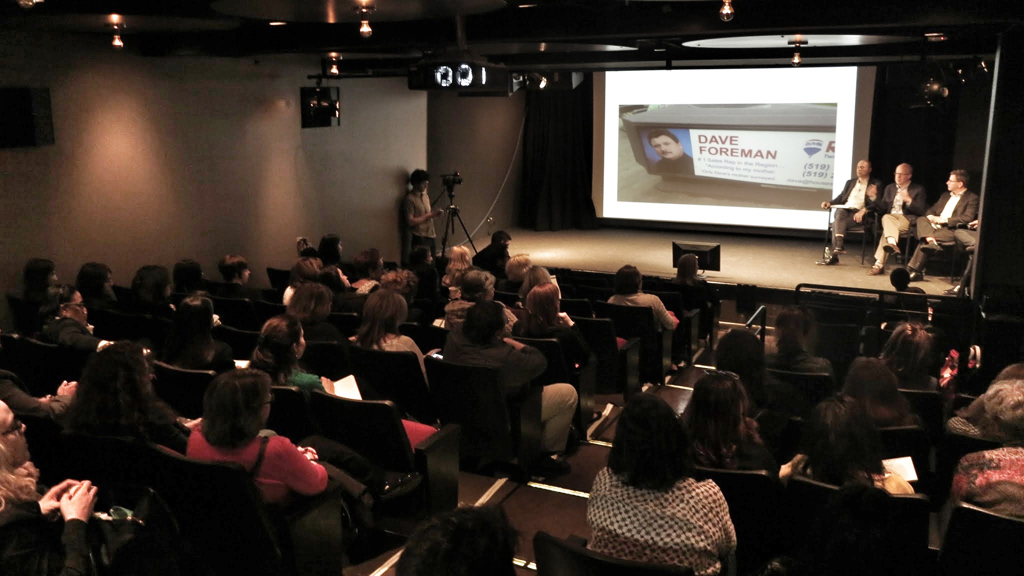 Presentation during AICP Week 2015 Base Camp in the HELEN MILLS Theater