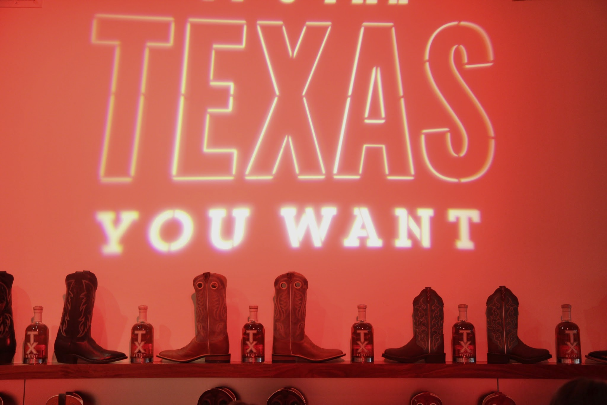 Texas You Want wall projection