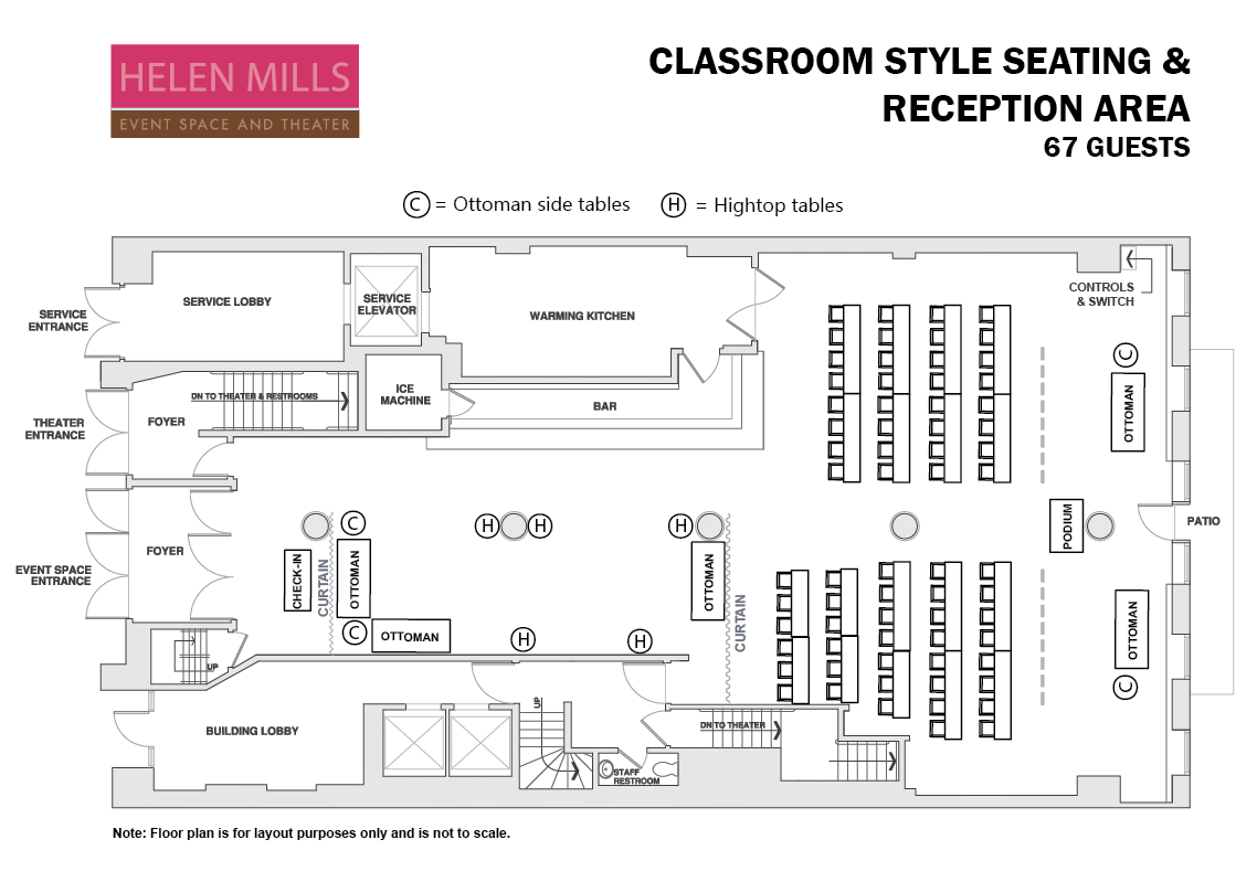 Classroom Seating for 67 Guests.png