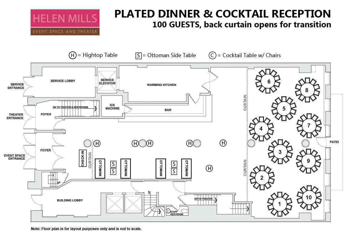 Plated Meal with Cocktail Reception Area and Back Curtain.png