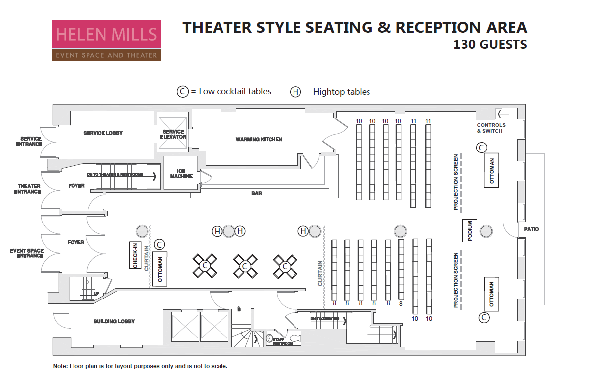 Theater Seating for 130 with Reception Area.PNG