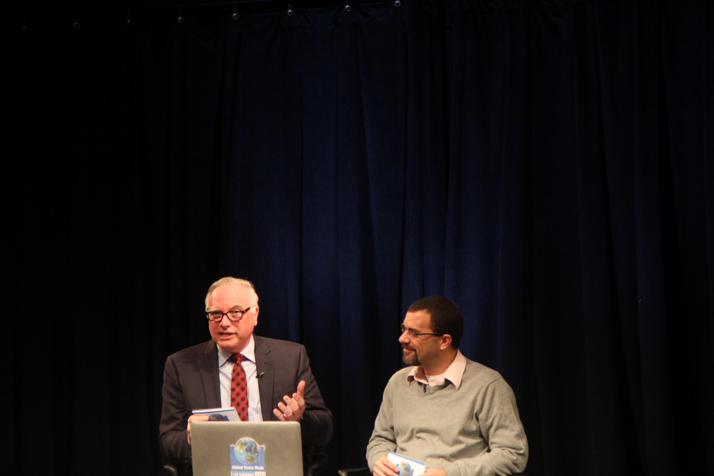 David Adler speaking to guests