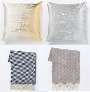 decorative pillows and fabric options