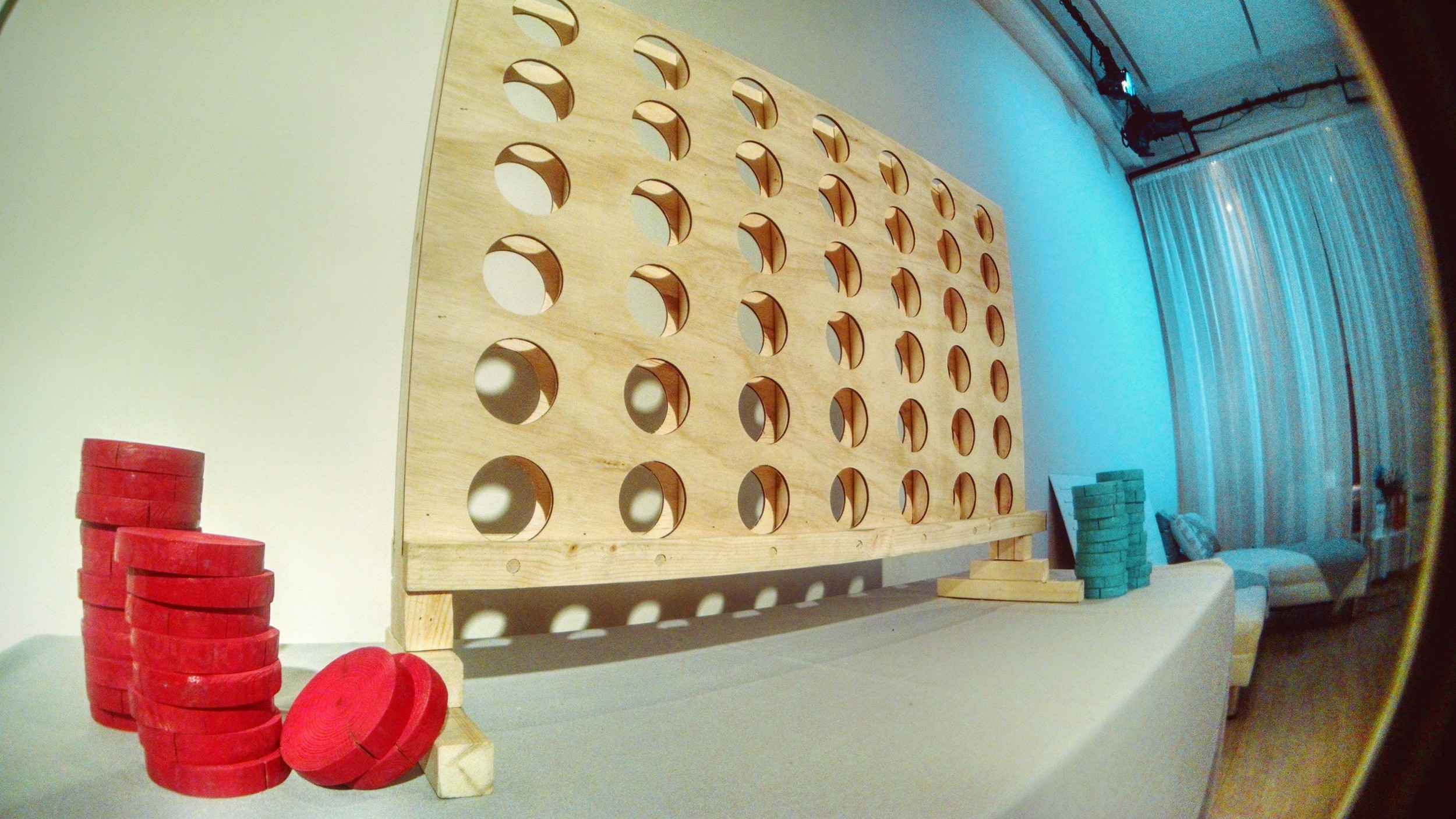 Giant Connect Four with the brand's signature blue color was a big hit during the evening cocktail reception. Giant Jenga was also a hit at the reception and allowed for attendees to mingle over a little friendly competition.