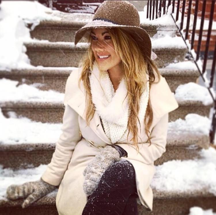 Melissa in the snow