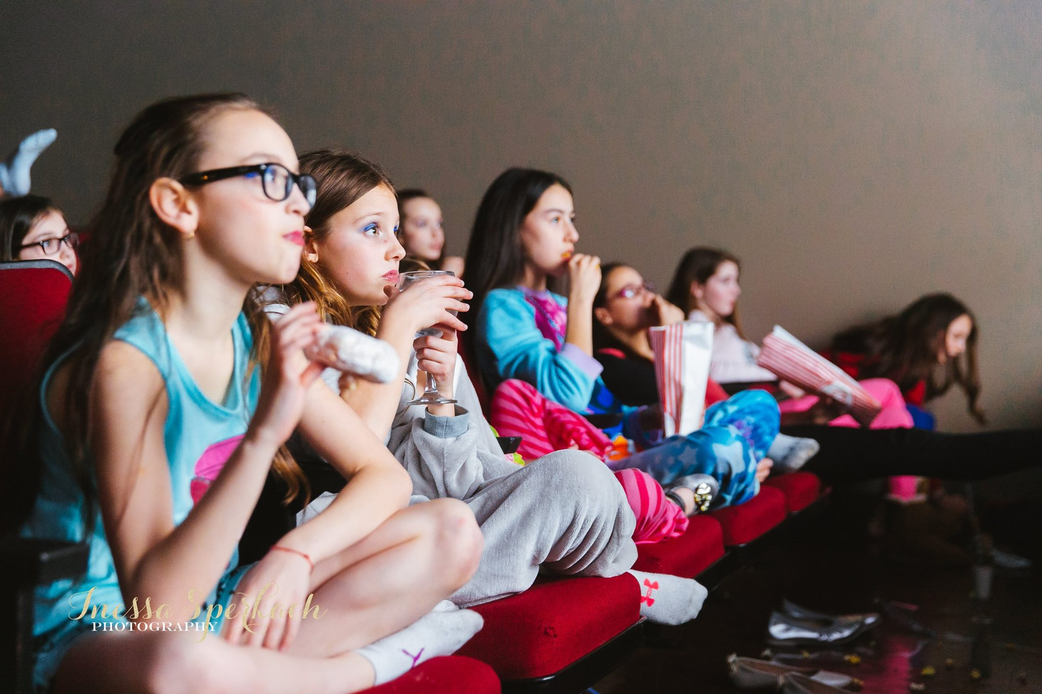 Young guests in the theater space