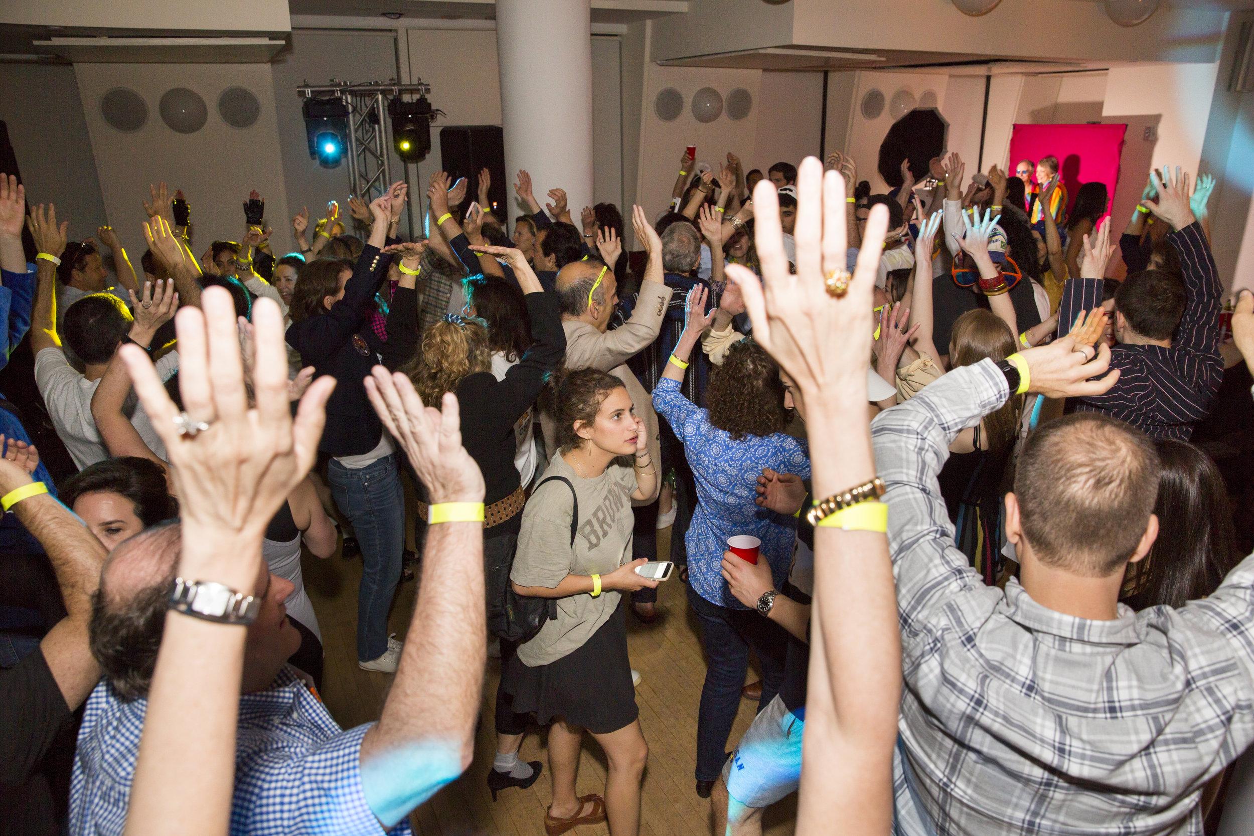 DJ, custom lighting and guests