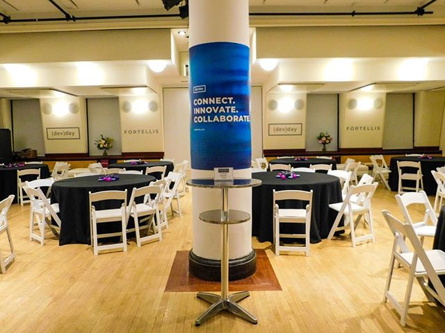 Branded column graphics for (dev)day✅ . . . #nyc #newyork #newyorkcity #newyorkevents #nycevents #nycevent #eventsnyc #instanyc #event #specialevents #corporate #corporateevents #privateparty #privateevent #eventspace #theater #rentalspace #coding #coders #techdevelopers #visual #visualmarketing #lighting #eventdesign #nycparty #eventplanner #press #seminar #presentation