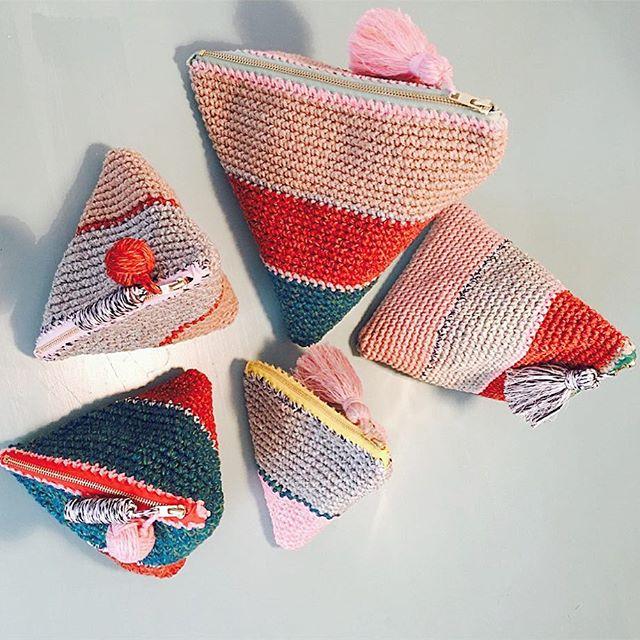 one of a kind pockets, new in! #ikoutschuss #ankerstrasse25 #crochet #colours #tassels