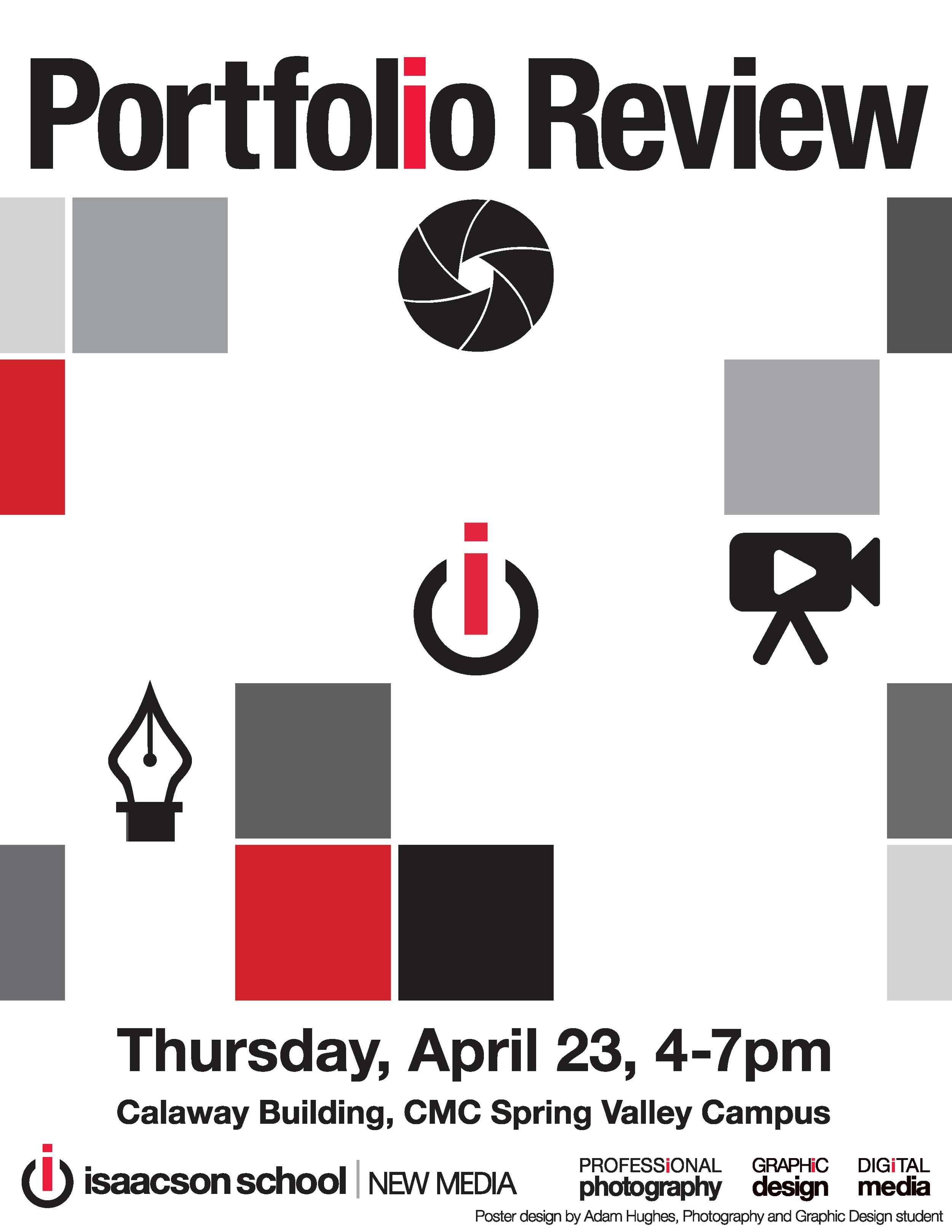 Portfolio Review Poster Spring 2015