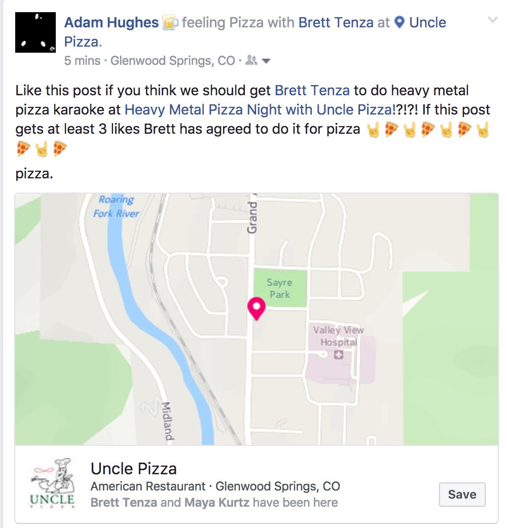1 Like=1 Prayer. 1 pizza=1 pizza.