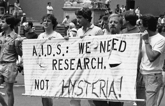 The 14th annual Lesbian and Gay Pride parade in New York, June 27, 1983. | Photo via  Housing Works