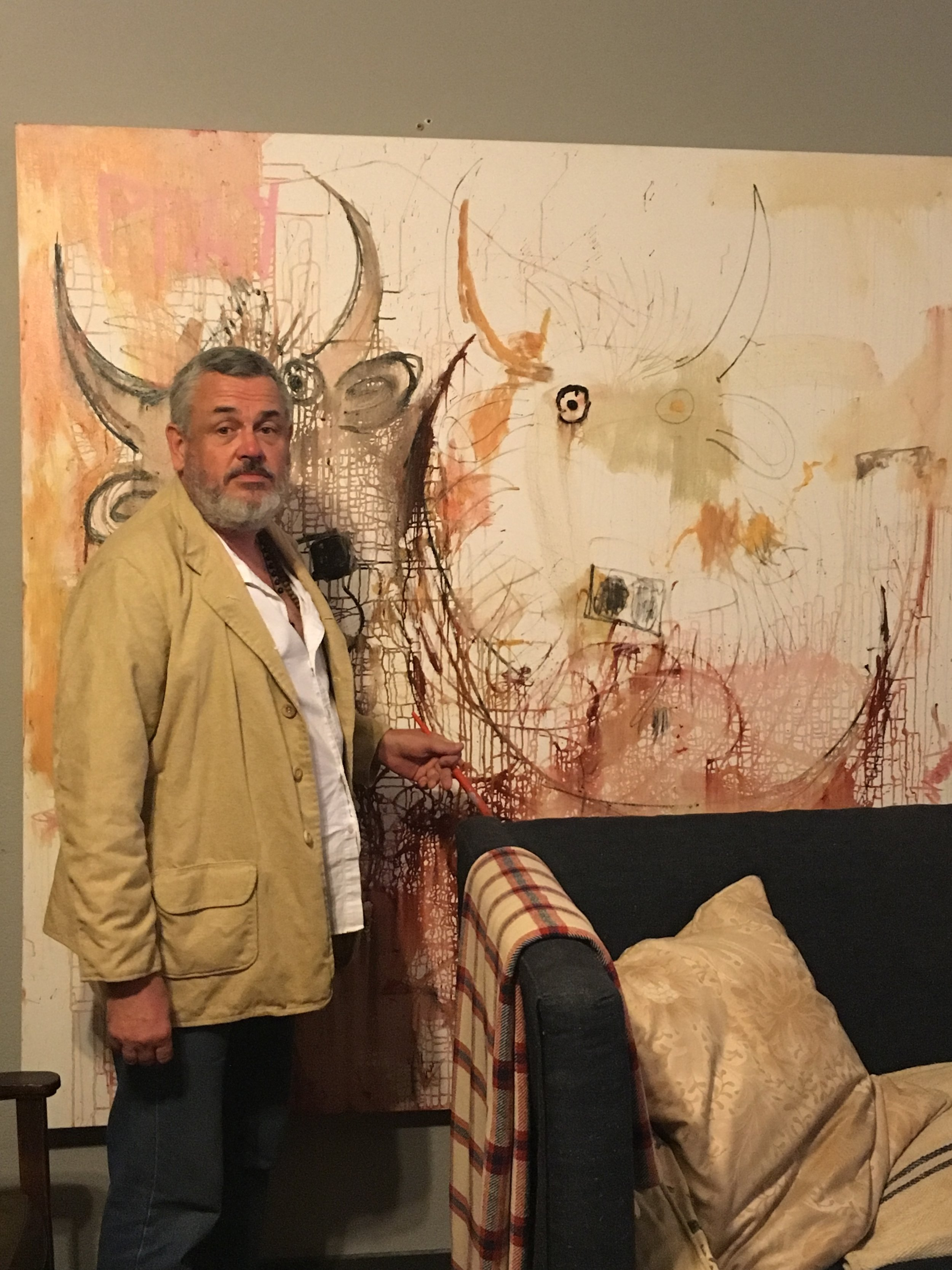 Bruce Burstert in his studio/gallery - The Museum of the West.