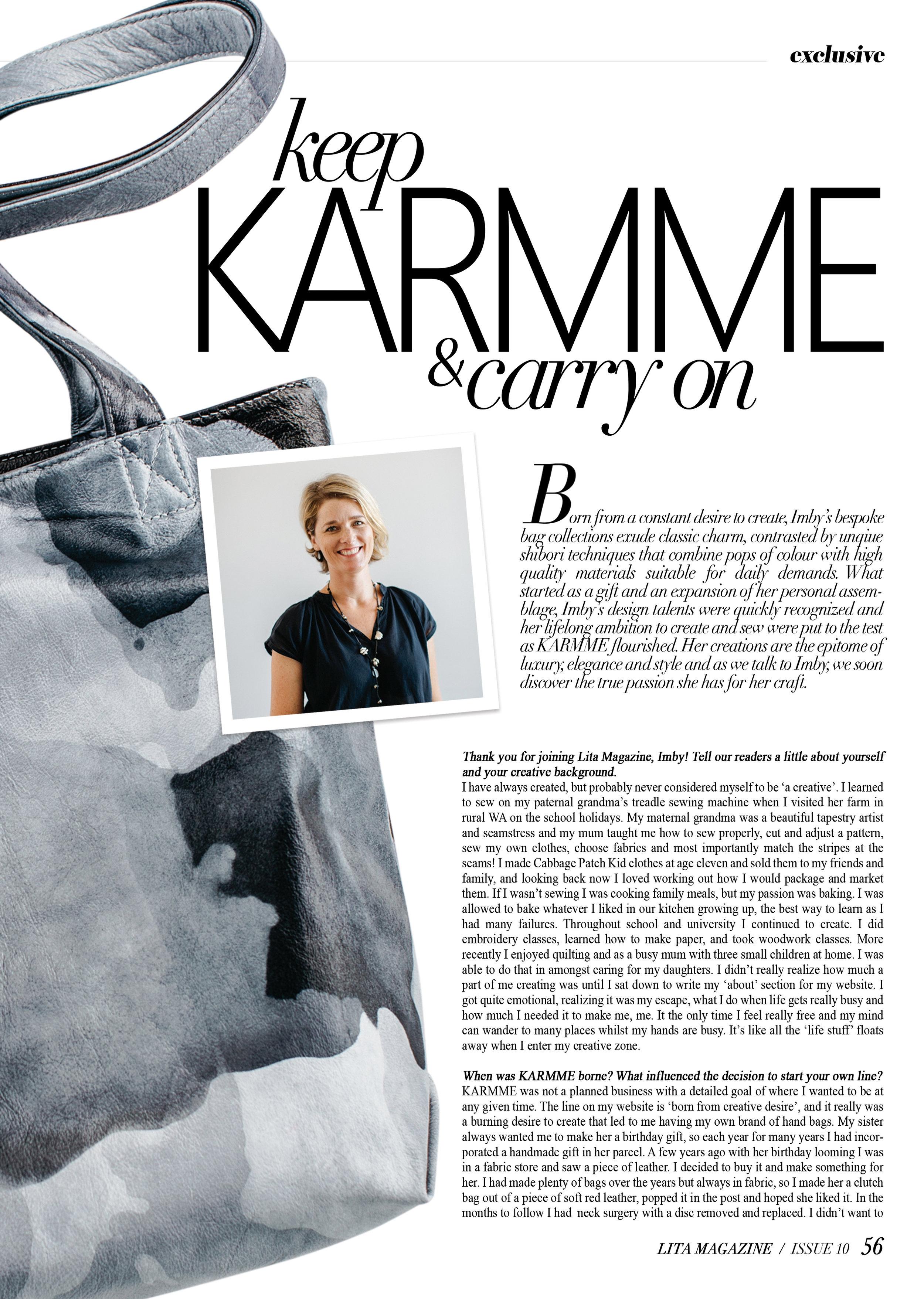 KARMME | Lita Magazine Issue 10
