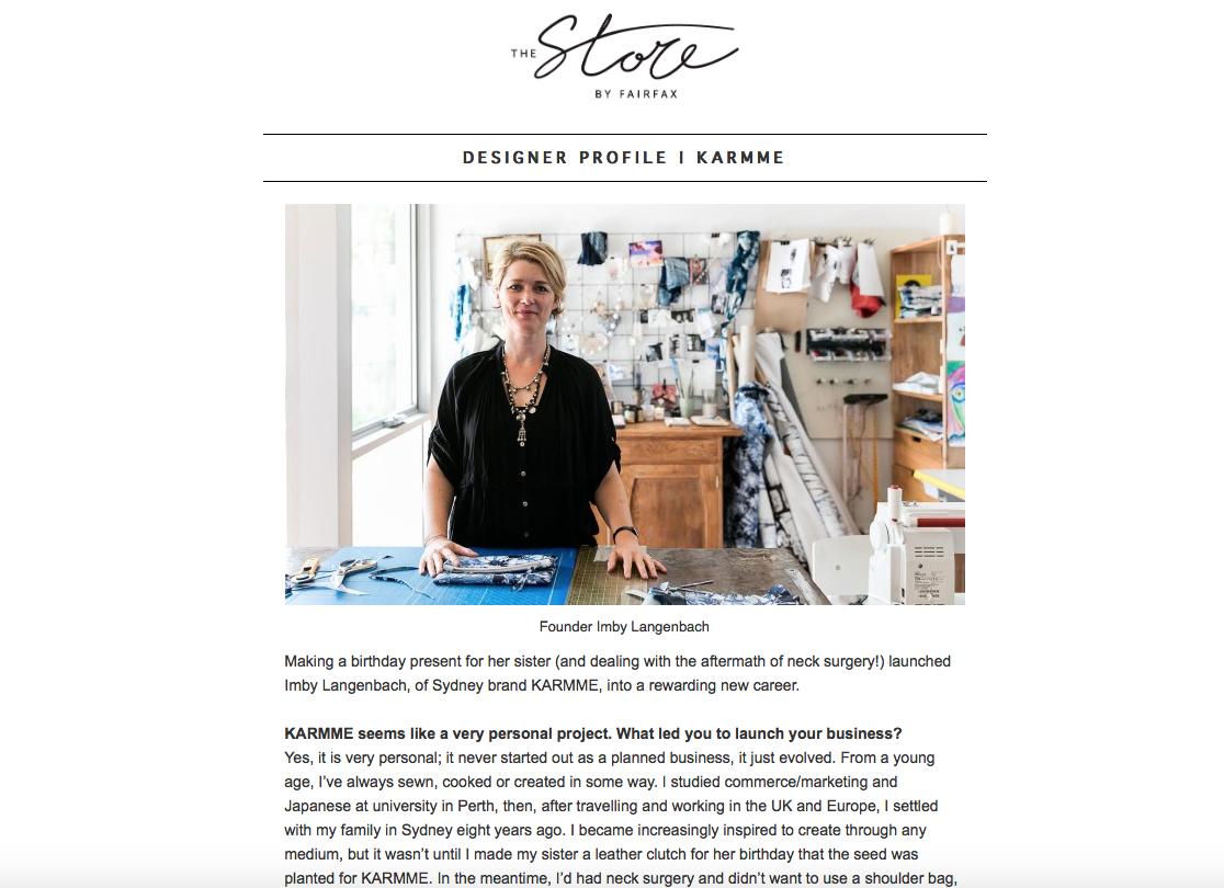 Designer profile, The Store by Fairfax