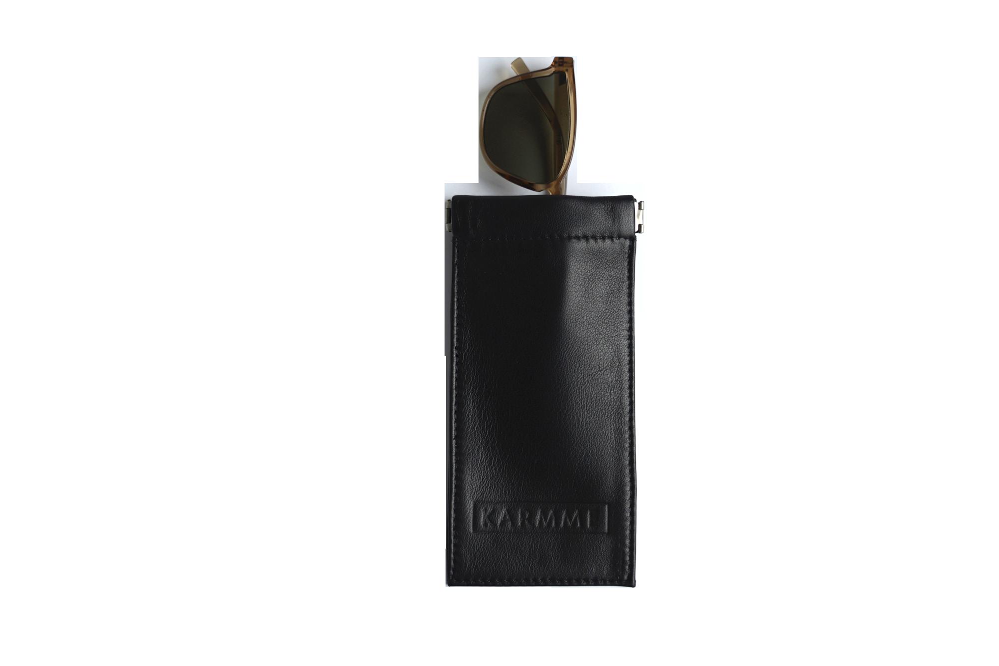 black sunglasses pouch